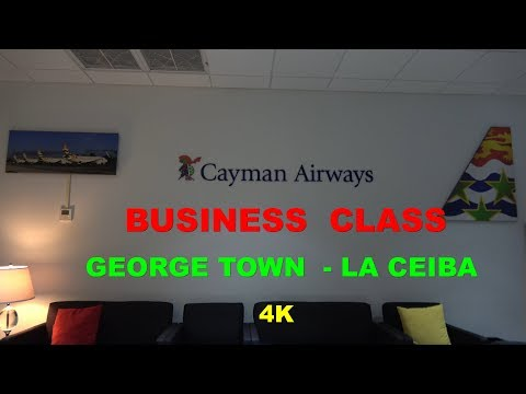 Cayman Airways Business Class George Town - La Ceiba 737-300 4K Sept.2017