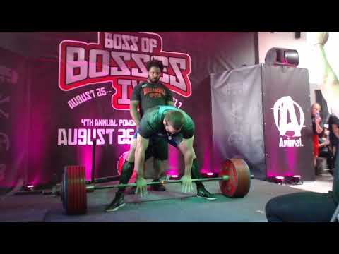 Cailer Woolam - 420.5 kg/927 lbs World Record Deadlift + 905 kg/1996.3 lbs Total - Boss Of Bosses 4