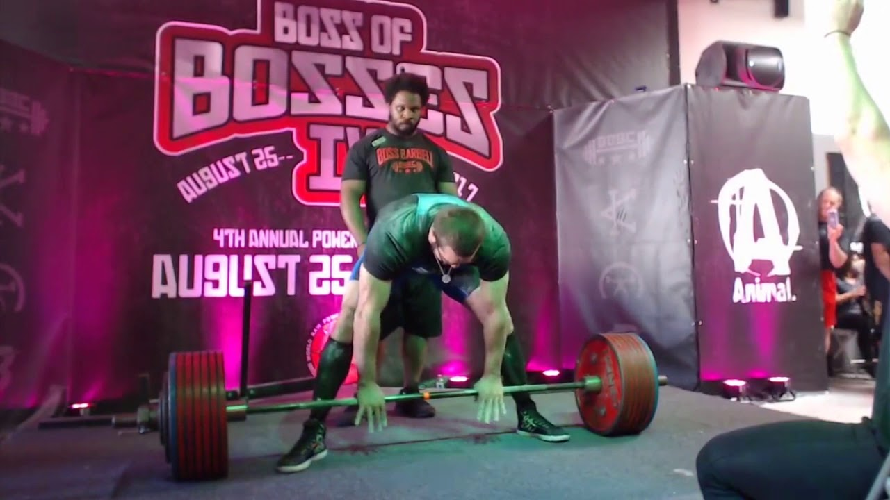 Cailer Woolam - 420 5 kg/927 lbs World Record Deadlift + 905 kg/1996 3 lbs  Total - Boss Of Bosses 4