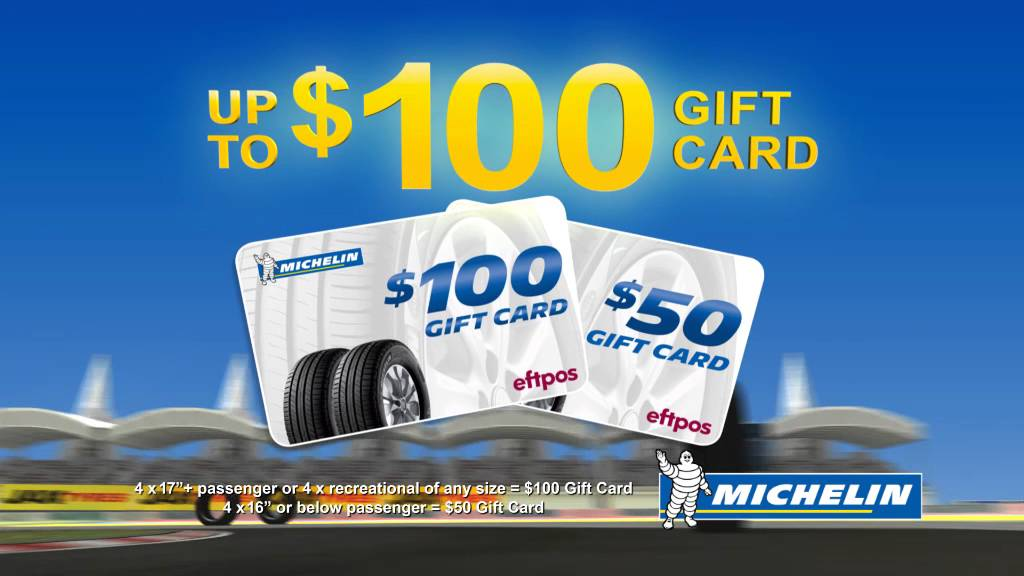 Michelin Tyres EFTPOS Gift Card Promotion | JAX Tyres