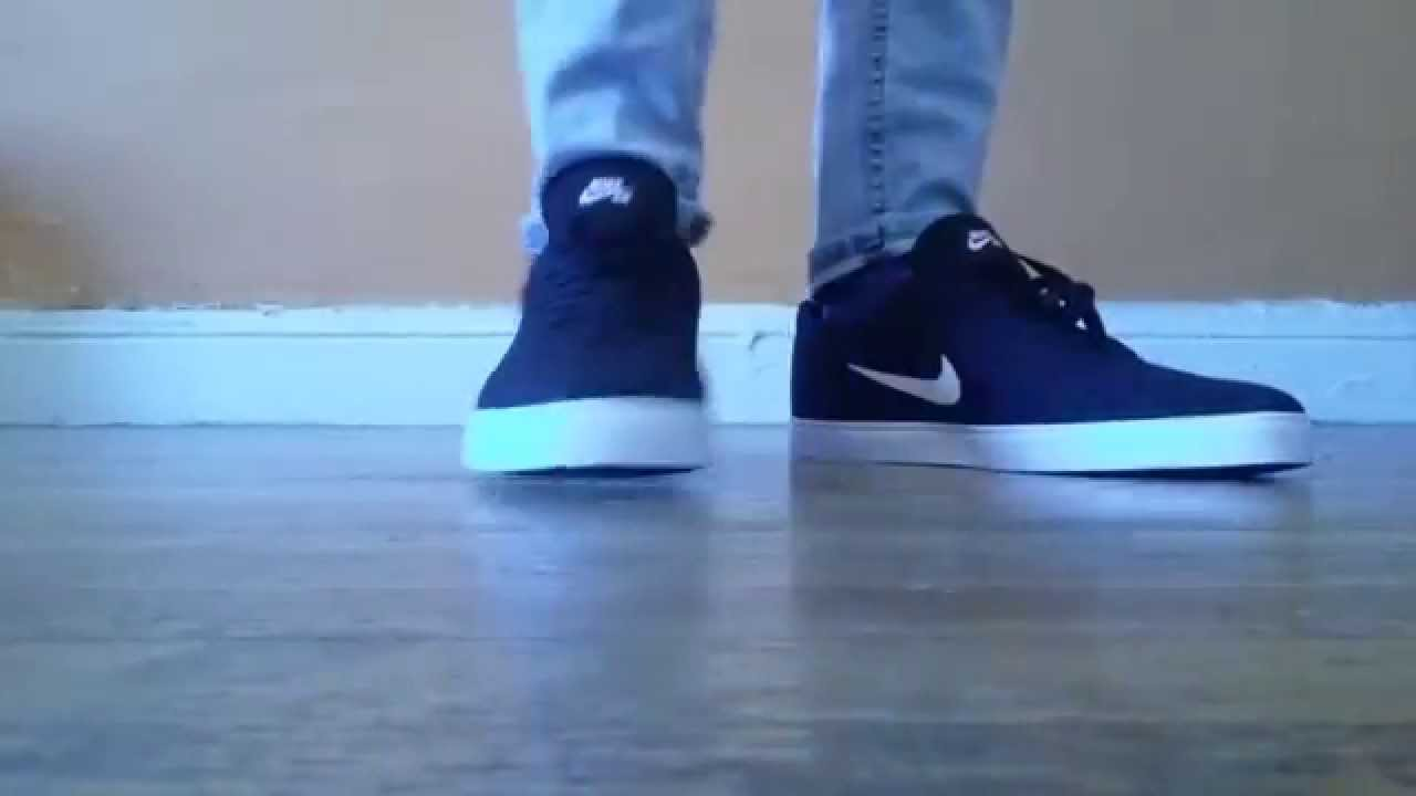 ed35627819a9 nike sb check black white on feet - YouTube