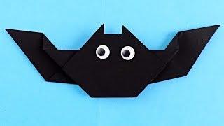 Как сделать летучую мышь | Оригами летучая мышь | Поделки из бумаги