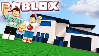 DENIS & CORL BUILD THEIR REAL LIFE HOUSE IN ROBLOX!