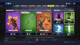 TENDER DEFENDER OUT NOW! | FORTNITE ITEM SHOP TODAY! | FORTNITE | NEW SKIN (23/11/2018)