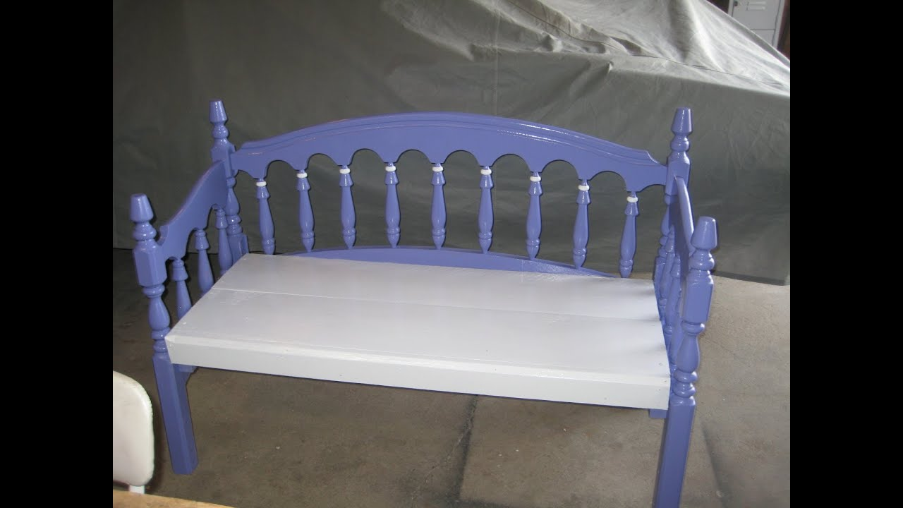 Bed Frame Made Into A Bench For G Ma Sharon 0001 Wmv Youtube