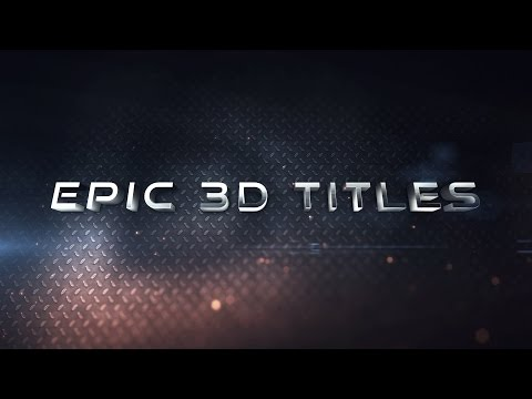 After Effects Tutorial - Epic 3D Titles (No Plug-ins)