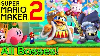 Mario Maker 2 - ALL KIRBY BOSSES (Mario Maker 2 Boss Battles)(Boss Ideas)(Kirby Super Star Ultra)