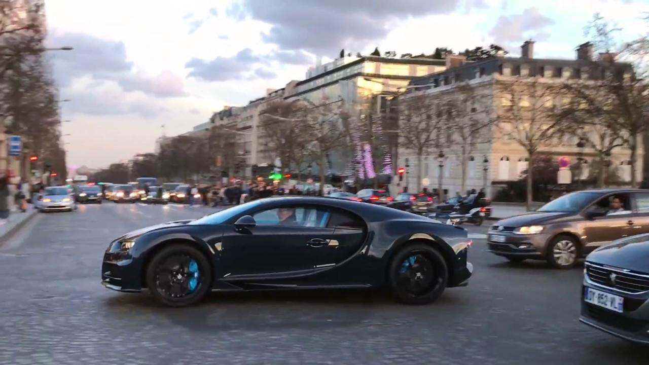 3million Blue Carbon Bugatti Chiron In Paris Hd Youtube