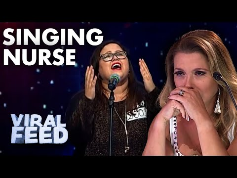 AMAZING Singing Nurse Brings Judges To Tears On Chile's Got Talent | VIRAL FEED
