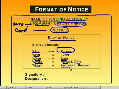 Notice Writing - Youtube