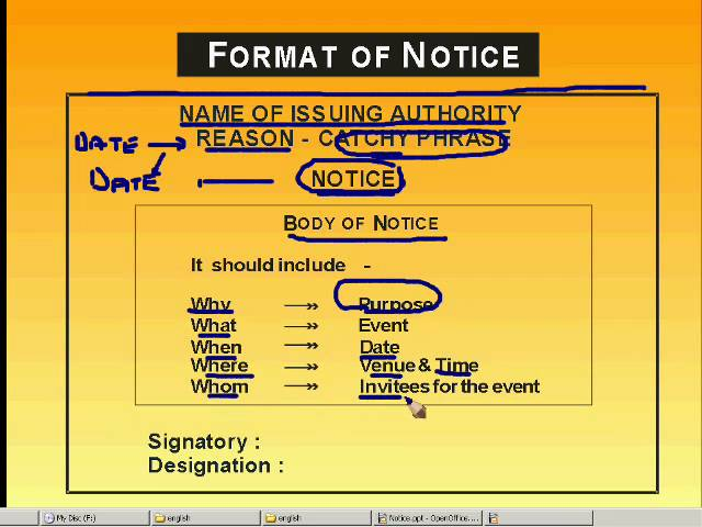 how to write a notice