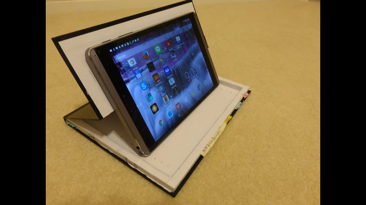 How to make a tablet case from a notebook - YouTube