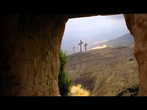 Tomb view of crosses Christian Animated Still
