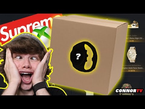 $700 Online Hypebeast Mystery Box! Supreme Bape XBox Gold Watch!