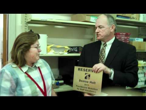 Denise Hall Recieves 2011 Staff Medallion for Inst...