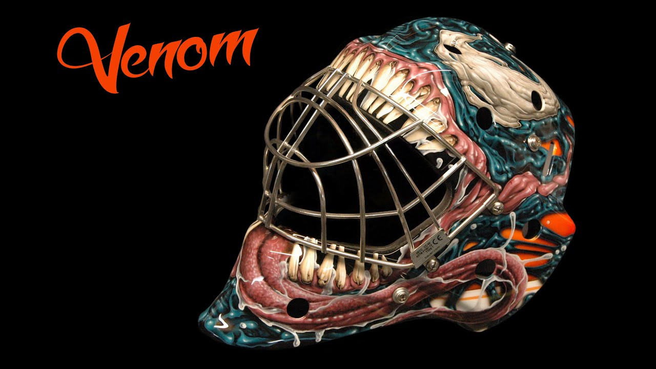 How To Airbrush A Goalie Mask