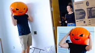 Wearing A Pumpkin On My Head For A Day (FAIL)