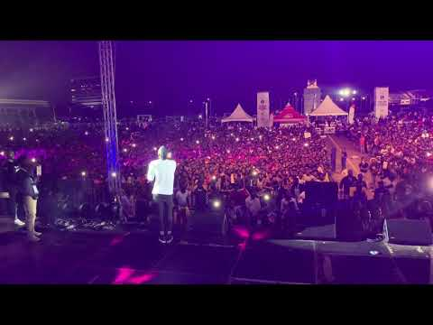 Stonebwoy Performs at AFRIMA Nominees Jam, Black Star Square || November 22, 2018.