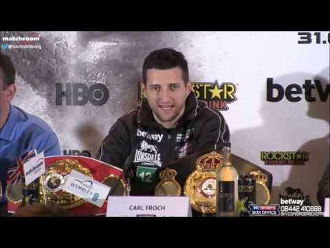 Froch v Groves 2! The Final Press Conference from Wembley!
