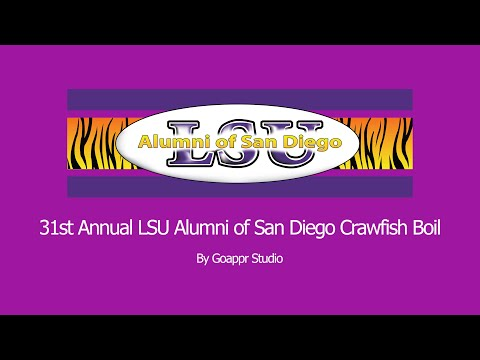 31st Annual LSU Crawfish Boil San Diego The Largest On The Plant 2019