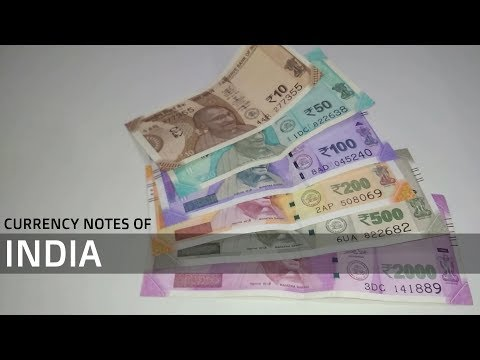 Indian Currency Notes | New Indian Rupee Notes after Demonetisation | INR Multicolor Notes