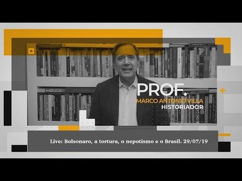 Live: Bolsonaro, a tortura, o nepotismo e o Brasil.  29 07 19