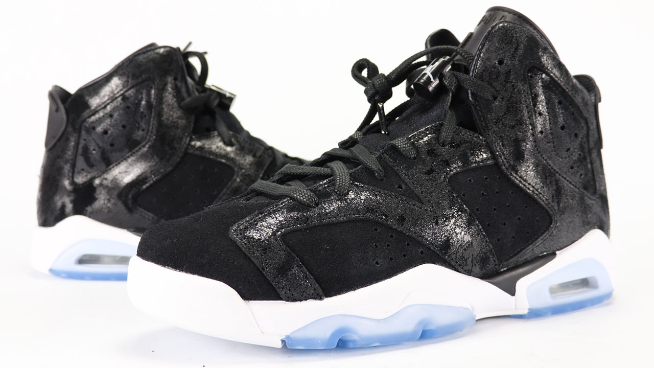 e8f9e1b995af Air Jordan 6 Heiress Black White Suede Review - YouTube