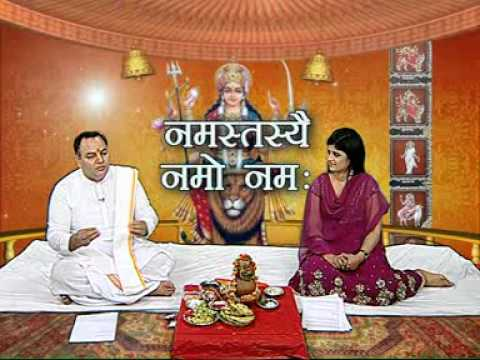 Acharya Rajbir Gaur,s  process of kanya pujan