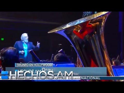 Plácido Domingo felicitó a los jóvenes de la orquesta Esperanza Azteca