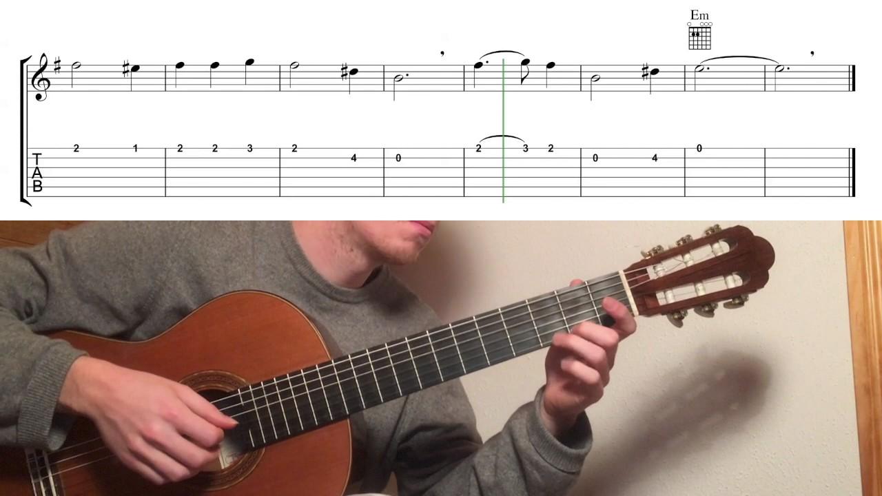 Hoist The Colours Guitar Tutorial Clical Fingerstyle