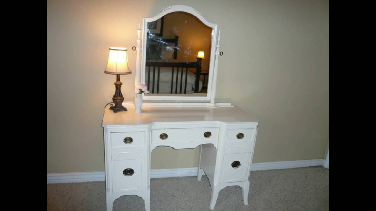 Makeup Vanity Table With Lighted Mirror YouTube