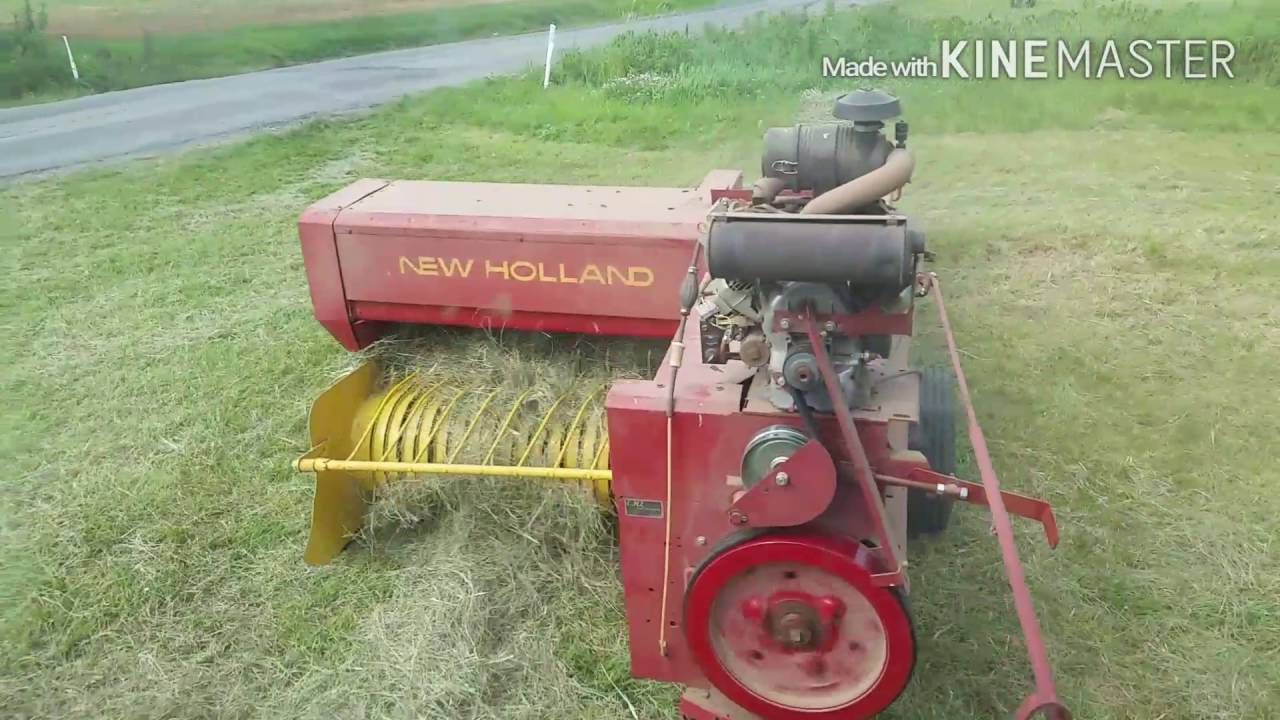 More About The New Holland Small Baler And Engine Youtube