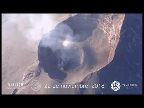 Sobre vuelo del Volcán Popocatépetl del 22 de novimbre de 2018