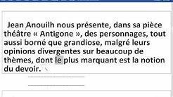 Ecrit bac 09  - Explication en français . plan thématique