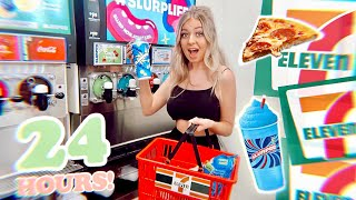 I Only Ate 7 ELEVEN Gas Station Foods for 24 HOURS!!