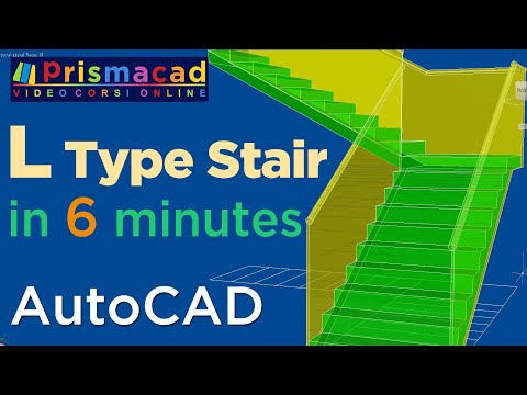 How to build a L-Type Stairs with Autocad a few minutes - Architecture