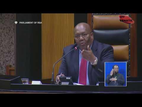 EFF Mbuyiseni Ndlozi Vs Deputy Speaker Tsenoli