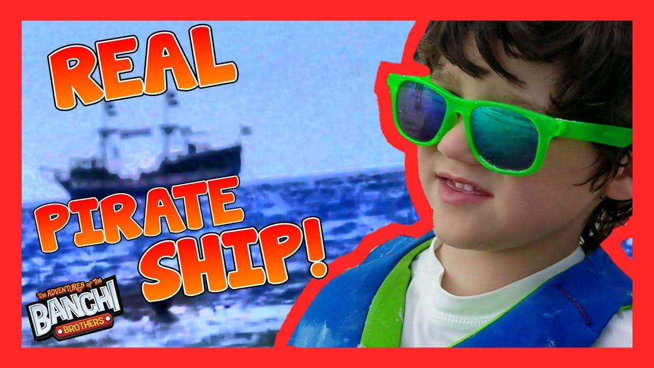 Real Pirate Ship Kids Beach Toys Rain Dance Sunset Ft Meyers Beach