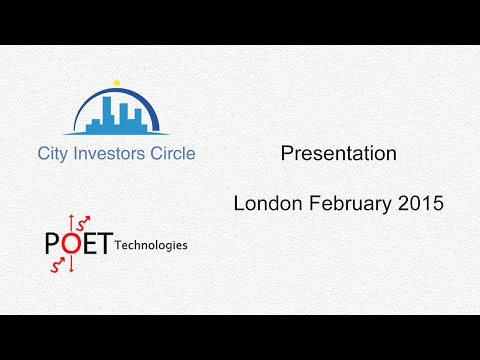 City Investors Circle - POET Technologies - London February 2015