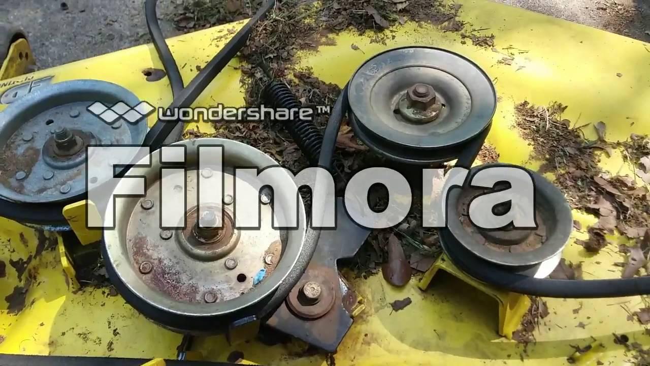 Garden Tractor Without Mower Deck : John deere lawn tractor deck maintenance youtube