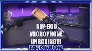 nw 800 microphone unboxing w commentary and guitar test