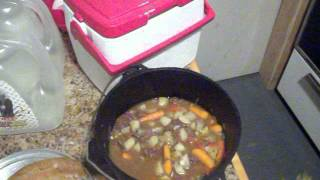 Bear Stew and bread, finished dish & bread recipe.