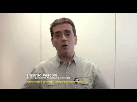 Comunicado à sociedade do Diretor-presidente da Samarco