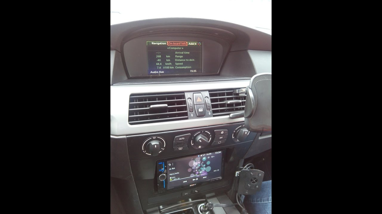 bmw e60 2 din radio my modification youtube. Black Bedroom Furniture Sets. Home Design Ideas