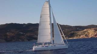 Catamaran sailing in Greece and Aegean