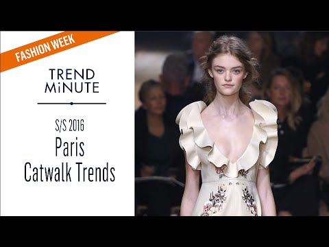 Trend Minute: Paris S/S16 - Catwalk Trends