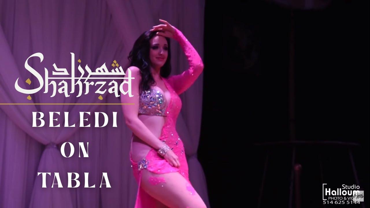 Shahrzad Beledi on Tabla Belly Dance