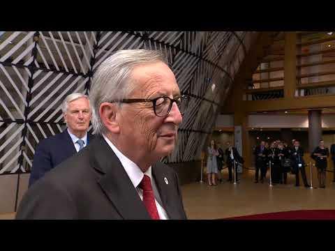 #EUCO: Doorstep by President Jean-Claude Juncker