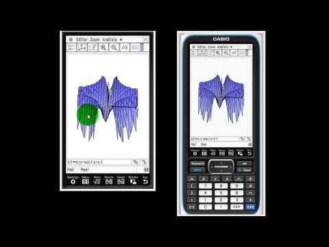 CLASSPAD II :GRAFICAR FUNCIONES 3D