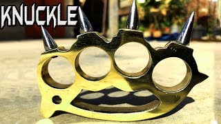 Casting Brass Knuckles👊 at home out of Brass Junk | Brass Casting